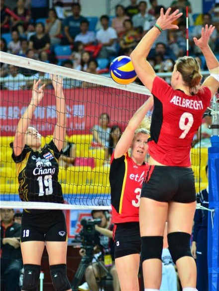 Aelbrecht and Dirickx in Chinese Volleyball Masters