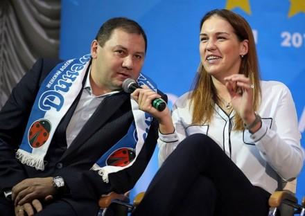 Borodakova and coach