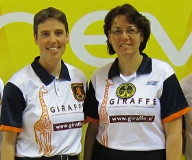 Female refereeing duo officiates at finals of Dutch national cup