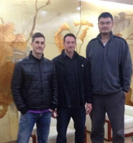 David Lee and Yao Ming
