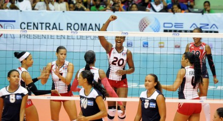 Dominican's girls against Nicaragua