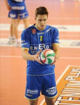 Evan Patak, the new outside hitter