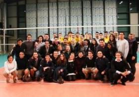 FIFA Master students at the game
