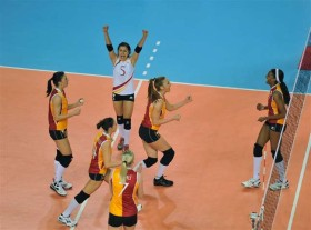 Galatasaray ISTANBUL claimed tonight the first final match victory