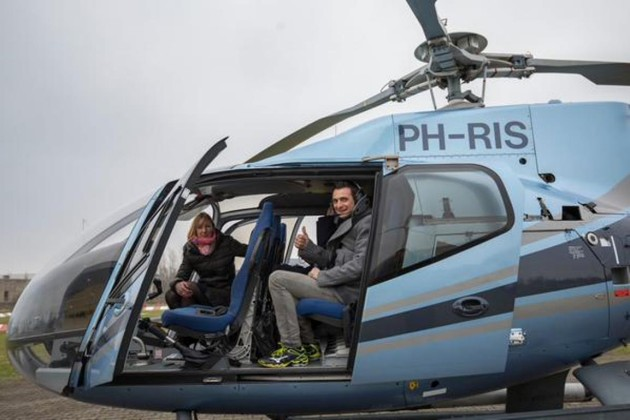 Guidetti in helicopter