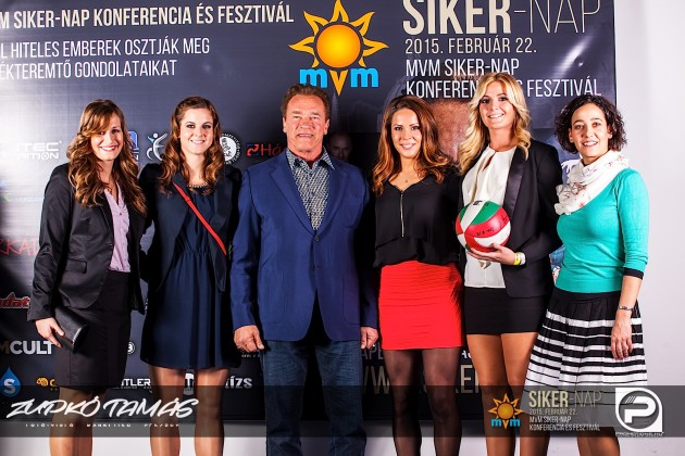 Hungary's national players and Arnold Schwarzenegger