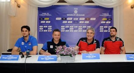 Press conference Serbia vs Bulgaria Novi Sad