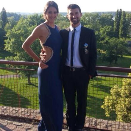 Veljkovic with her boyfriend