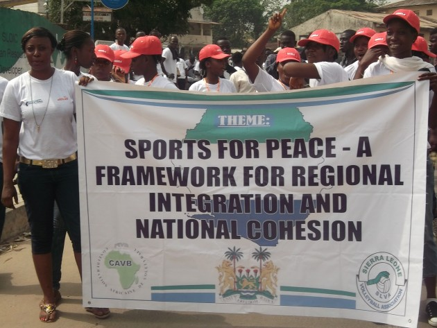 """Successful regional """"Volleyball for Peace"""" tournament in Sierra Leone"""