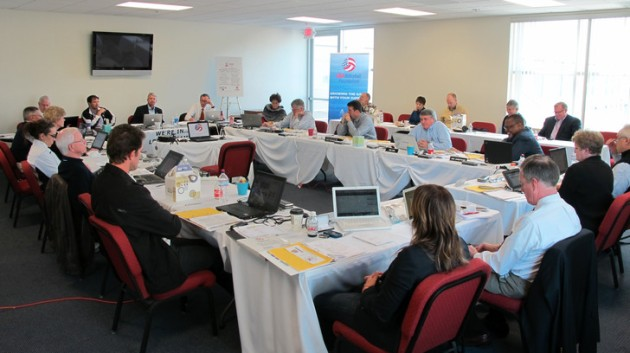The USA Volleyball Board of Directors met at the American Sports Centers in Anaheim durings its January 2012 meeting
