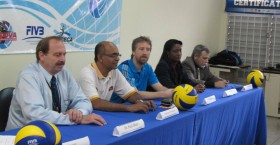 Sweden's Tony Westman, third from right, is conducting the libero seminar in Trinidad and Tobago