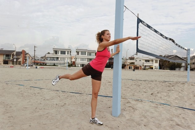 Volleyball-stretching