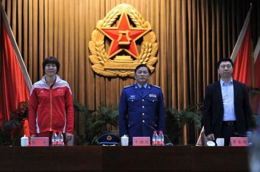 Lang Ping (left)