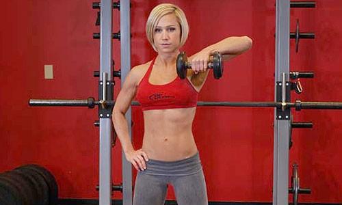 exercise-barbel-single-arm-jerk-lunge