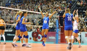 Serbia-after winning the match point