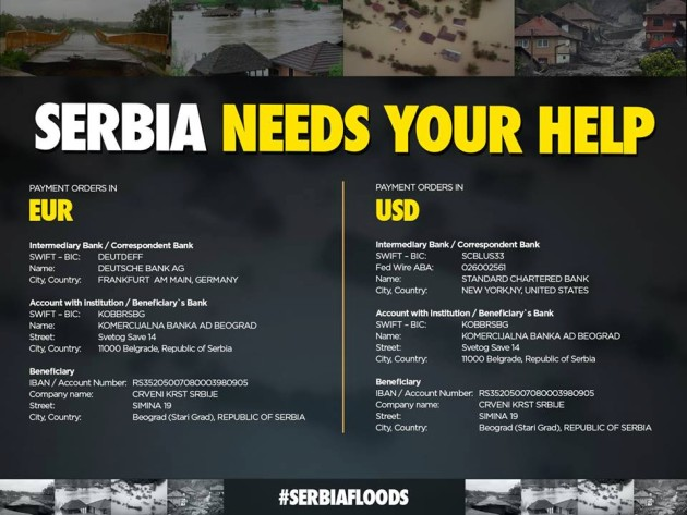 Serbia needs your help