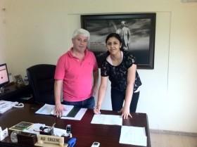 Serpil Ersari renewing the contract