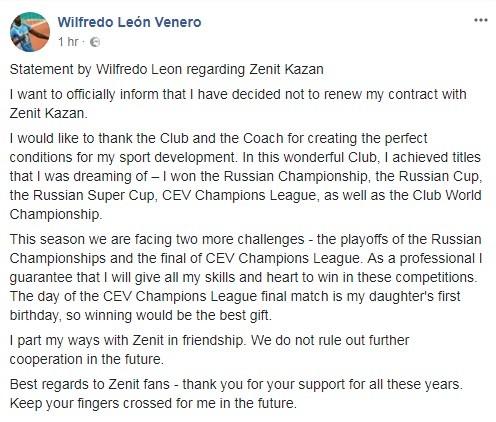 Wilfredo-Leon-Facebook