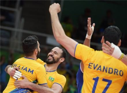 Brazilian team celebrated victory
