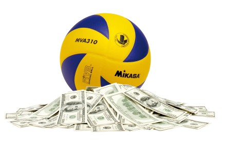 volleyball and money