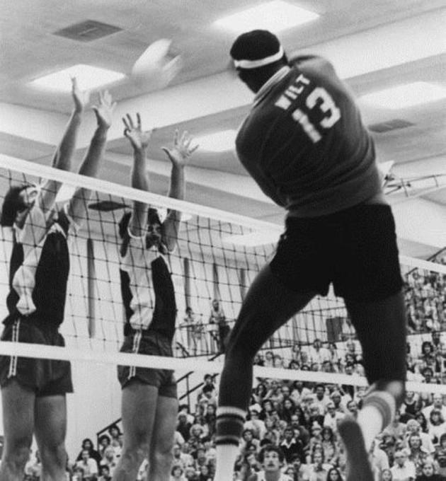 Wilt Chamberlain as volleyball player