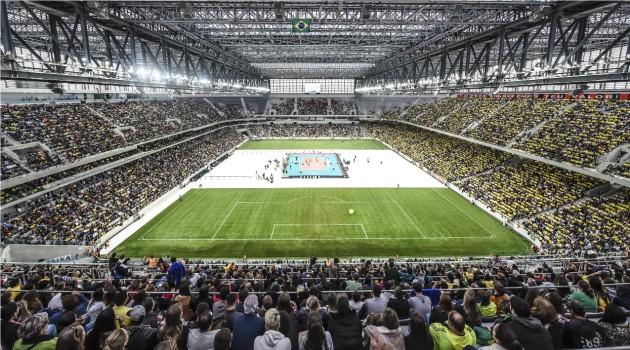 Brazil played against Portugal at Arena da Baixada