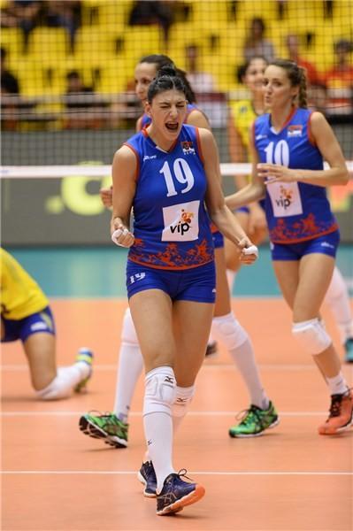 Tijana Boskovic against Brazil