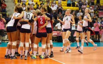 USA girls celebrated new win
