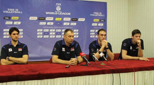Serbian press conference